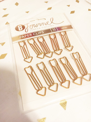 Teresa Collins B Journal Paper Clips: Arrow