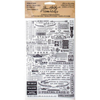 Tim Holtz Idea-ology Remnants: Special Delivery -siirtokuvapakkaus