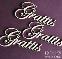 Wycinanka: Grattis  -tekstileikkeet