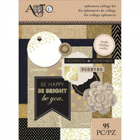 Art C Ephemera Collage Kit: Metallic - pakkaus