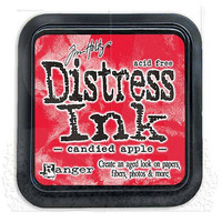 Distress Ink: Candied Apple -mustetyyny