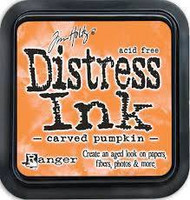Distress Ink: Carved Pumpkin -mustetyyny