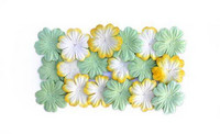 Scrapberry: Yellow & Green Blossoms - kukkapakkaus