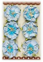 Reprint: Blue Flowers  - paperikukkapakkaus