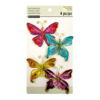 Recollections: Glacee Butterfly Embellishments Multicolor