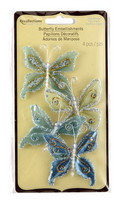 Recollections: Glacee Butterfly Embellishments Blue