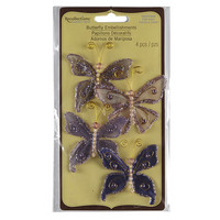 Recollections: Glacee Butterfly Embellishments Purple
