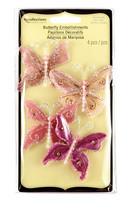 Recollections: Glacee Butterfly Embellishments Pink