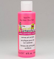 Decoart: Social Artworking Neon Pink Paint 118ml