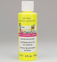 Decoart: Social Artworking Neon Yellow Paint 118ml