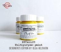 13arts Ayeeda Paint: Metallic Yellow 25 ml