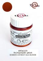 13arts Ayeeda Paint: Metallic Red Bronze 25 ml