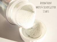 13arts Ayeeda Paint: White & Silver Glitter 22 ml