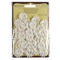 Recollections: White Floral Embellishments