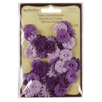 Recollections: Purple Floral Embellishments