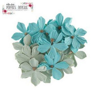 Poppies & Paperie Paper Flowers: Turquoise & Sage