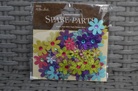 Spare Parts Gem Glitter Flowers: Multicolor Mix