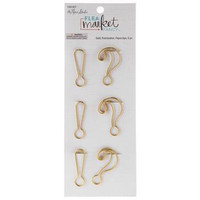 Flea Market Fancy Paperclips: Gold Punctuation