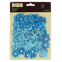 Recollections: Turquoise Jeweled Flowers