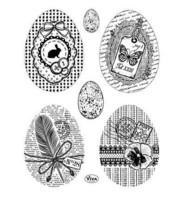 Easter Eggs Vintage Style - leimasinsetti