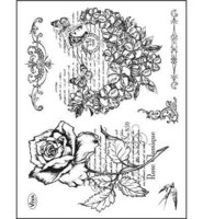 Flower Heart & Rose - leimasinsetti