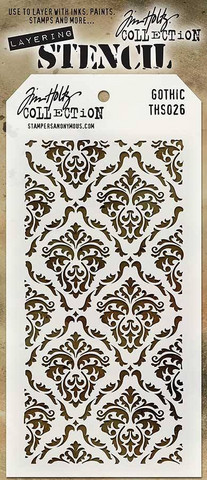 Layering Stencil: Gothic