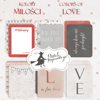 Journaling Cards 3x4: Colors of Love