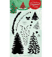 Christmas Layered Stamps : Christmas Tree - kirkas leimasinsetti