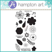 Layering Clear Stamps:  Flower Joy -kirkas leimasinsetti