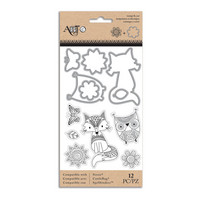 Art C Stamp & Cut: Doodle Dream Fox