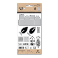 Art C Stamp & Cut: Little Houses 3D