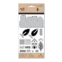 Art C Stamp & Cut: Little Houses 3D