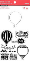 Valentine stamps & dies: Hot Air Balloon -setti