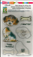 Clear Stamps & Cutting Dies: Dog