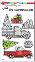 Cling Rubber Stamps & Cutting Dies: Truck Tidings
