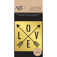 Art C Brass Template: Love Arrow
