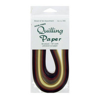 Quilling Paper: Brown & Tan Assortment 1/8.
