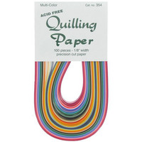 Quilling Paper: Multicolor Assortment 1/8.