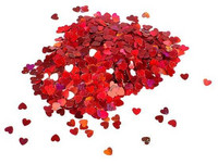 Red Hearts 3mm Confettiglitter
