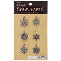 Silver Snowflake Charms  -metallikoristeet