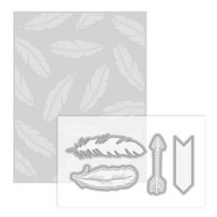 Momenta for Recollections Dies & Embossing Folder: Feather -setti