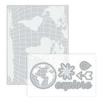 Momenta for Recollections Dies & Embossing Folder: Travel -setti