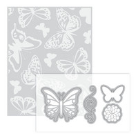 Momenta for Recollections Dies & Embossing Folder: Butterfly -setti