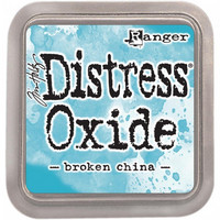 Distress Ink Oxide: Broken China -mustetyyny
