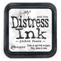 Distress Ink: Picket Fence -mustetyyny