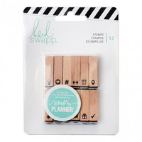 Memory Planner  Wooden Stamps : Icons
