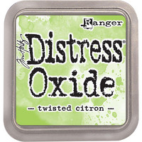 Distress Ink Oxide: Twisted Citron -mustetyyny