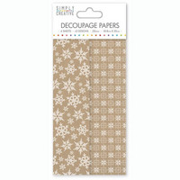 Decoupage Papers:  Kraft Snowflake