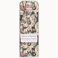 Deco Mache Decoupage Papers: Female Icon