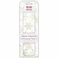 Deco Mache Decoupage Papers: Distressed Snowflake